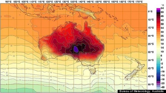 Australia Climate Change New Colors Added To Forecast