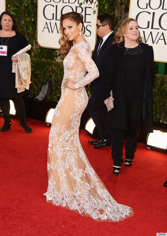 Jennifer Lopez Golden Globes Dress 2013 See Her Red