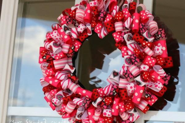 Valentine' Day Ideas Charming Ribbon Wreaths Adorn