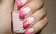 valentine's day nail art pretty