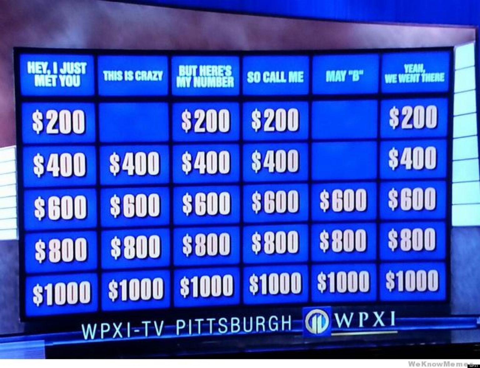 Kids Jeopardy Questions Kids Matttroy
