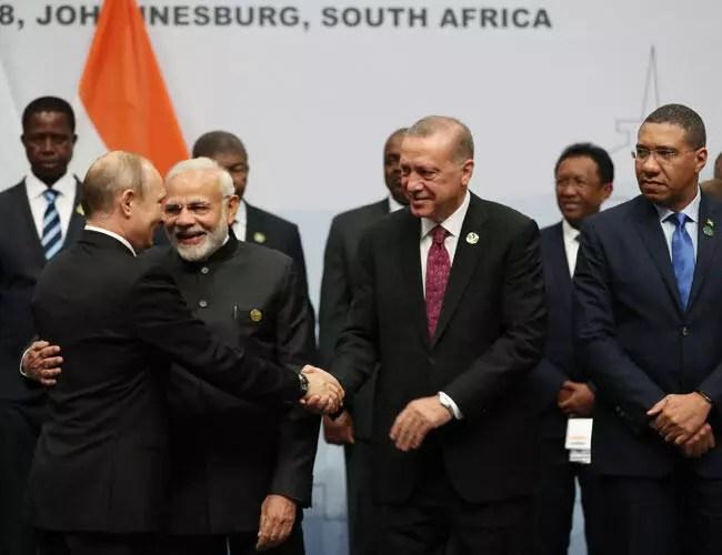 Erdoğan suggests adding 'T' to BRICS