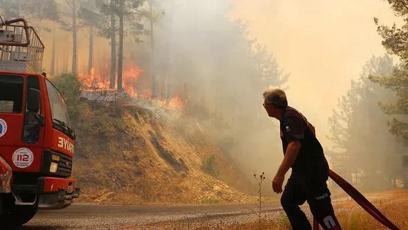 Alanyada orman yangını Söndürme ekibine şok talimat