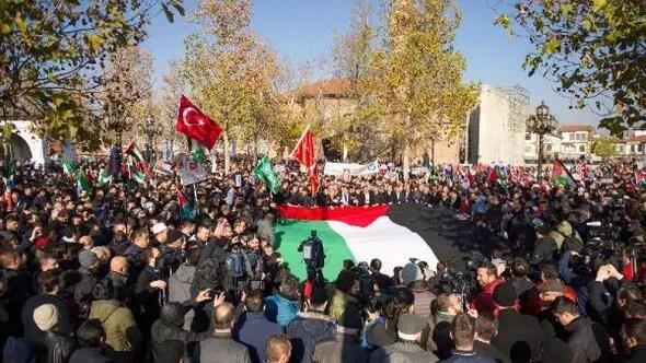 Ankarada Kudüs protestosu