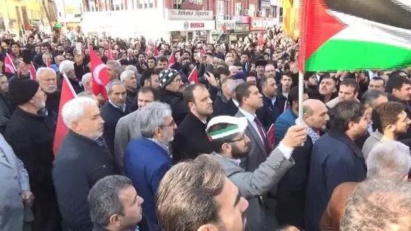 Bursada Kudüs protestosu