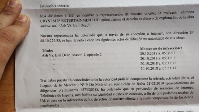 Dos productoras de cine extorsionan por carta a usuarios de toda España con llevarlos a juicio por piratería si no pagan 400 euros