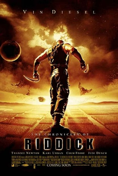 The Chronicles of Riddick 2004 Hindi Dual Audio 720p BluRay ESub 850MB | 400MB Download