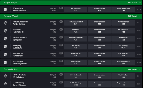 small resolution of bundesliga 31 spieltag 26 04 2019 28 04 2019 sportwetten forum