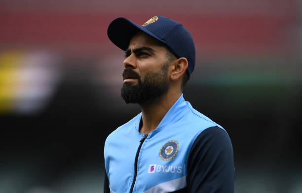 ADELAIDE-AUSTRALIA-DECEMBER-17-Virat-Kohli-of-India-looks-on-before-day-one-of-the-First-Test-match-