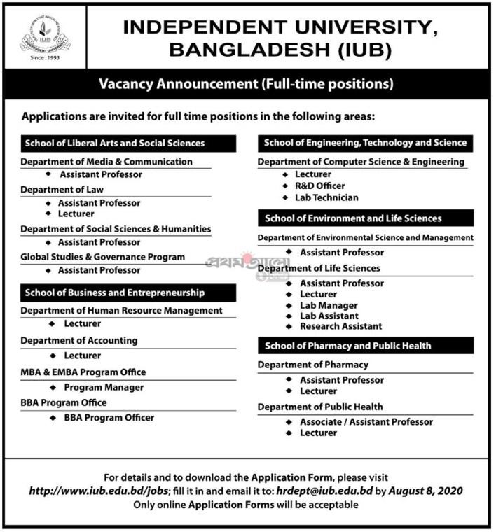 Independent-University-Job-Circular-2020