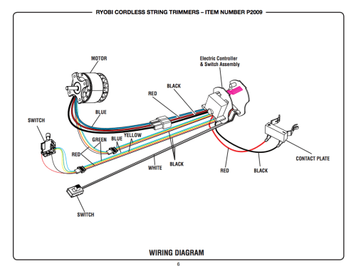 small resolution of reversing direction of battery string trimmer the lawn forumtrimmer wiring diagram 13