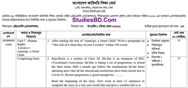 HSC Vocational English Assignment 2