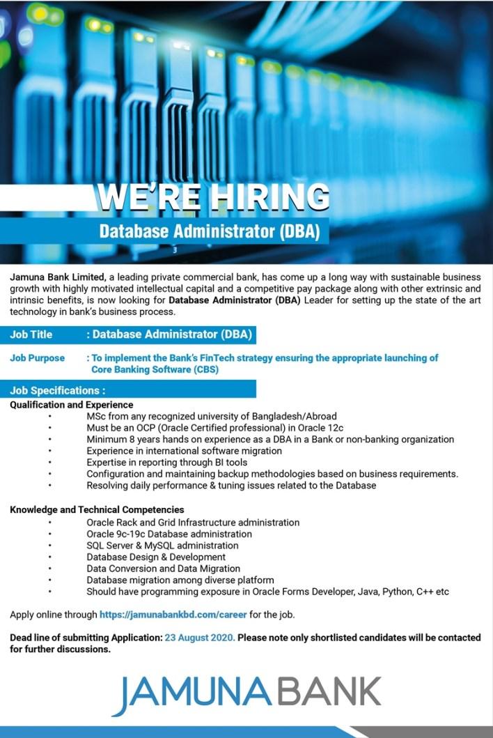 Jamuna-Bank-Database-Administrator-Job-Circular-2020