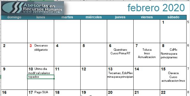 modificacion al 1 febrero