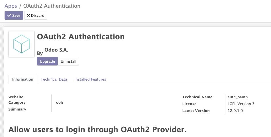 auth_oauth module