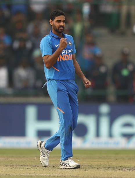 -Bhuvneshwar-Kumar-of-India-celebrates-taking-the-wicket-of-Marcus-Stoinis-of-Au