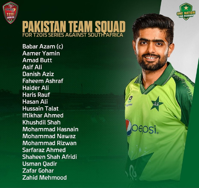 Pakistan-T20-Squad-Aganst-South-Africa-Cricket-Matches-2021