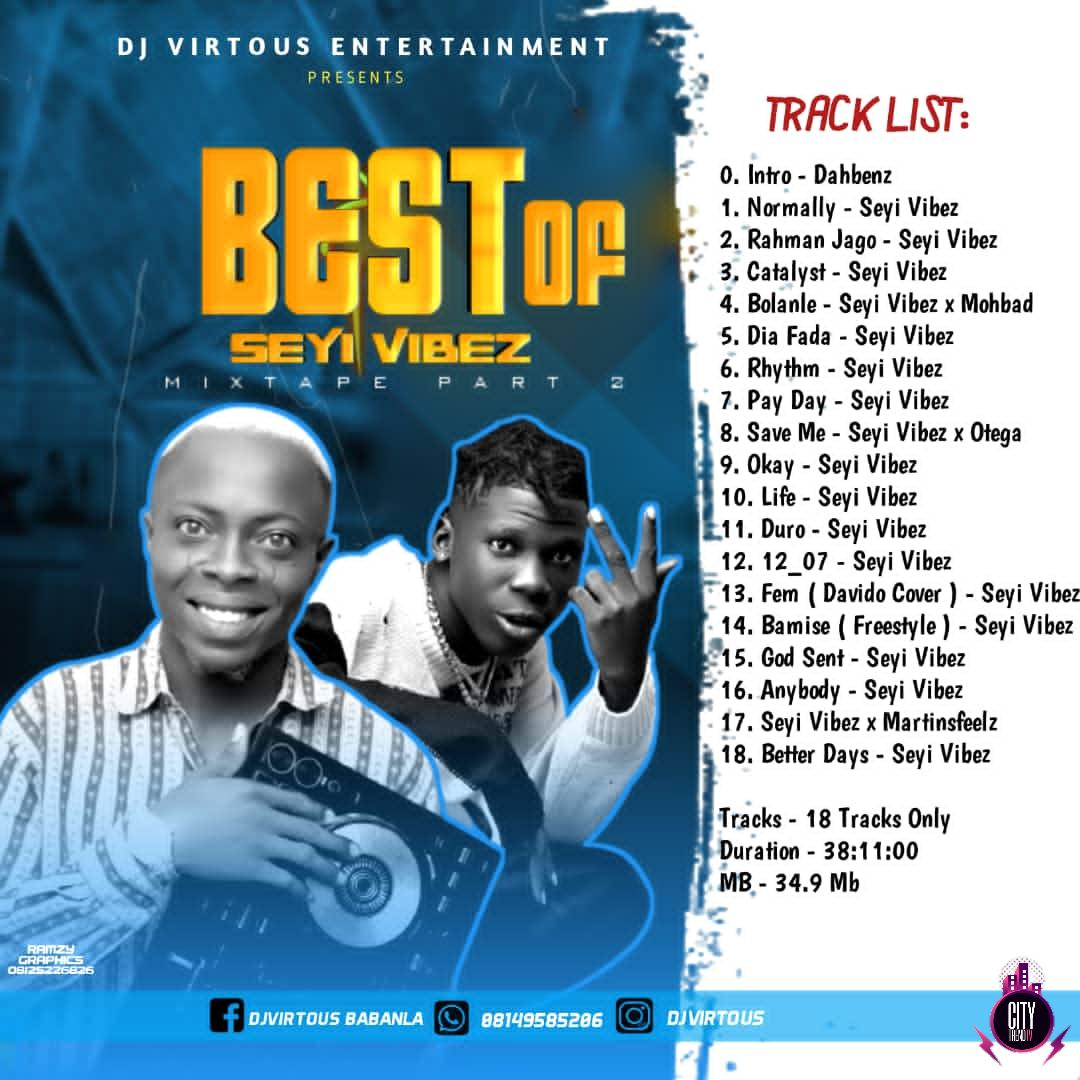 Mixtape: DJ Virtuous – Best Of Seyi Vibez Mix
