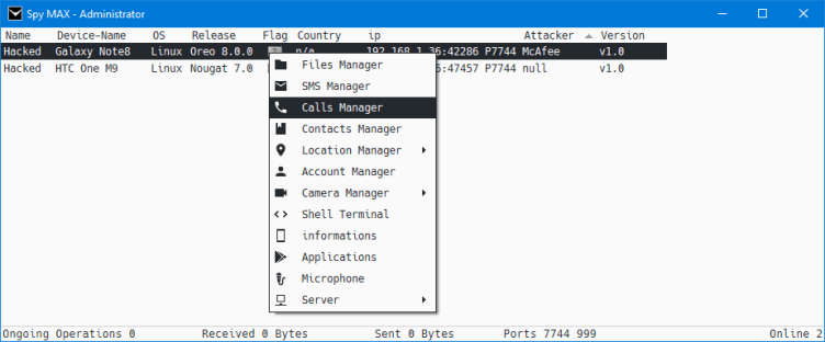 Spy MAX v1.0 – Android Remote Administration Tool