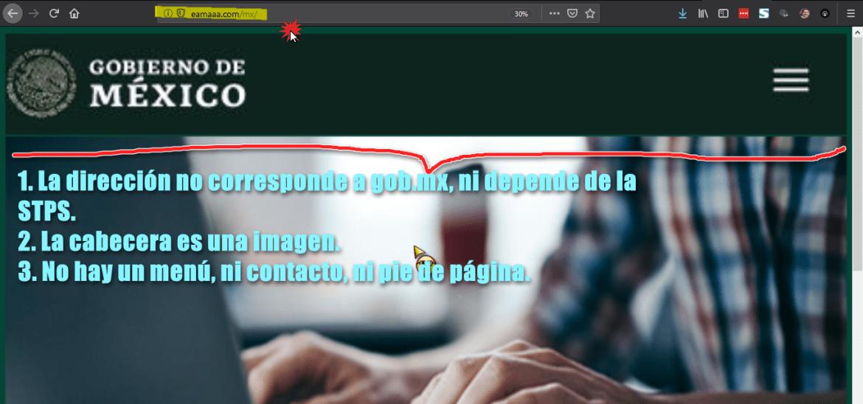 STPS portal apocrifo