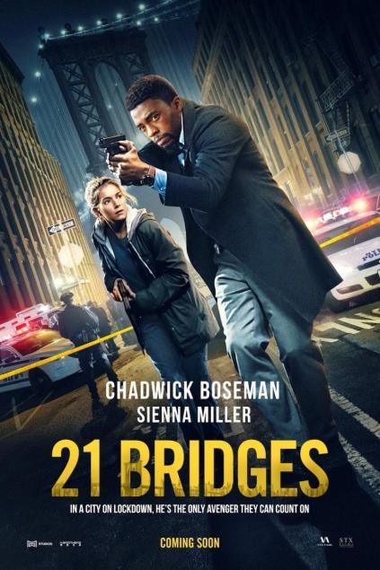 21 Bridges 2019 Hindi Dual Audio 720p BluRay 900MB | 350MB ESubs Download