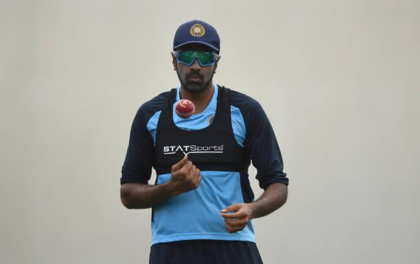 SYDNEY-AUSTRALIA-JANUARY-05-Ravichandran-Ashwin-looks-on-during-an-India-nets-session-at-the-Sydney-