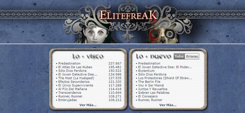 ÉliteFreak, alternativa de descarga de Torrents a Newpct.