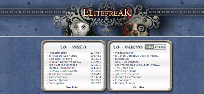ÉliteFreak, alternativa de descarga de Torrents a Newpct.