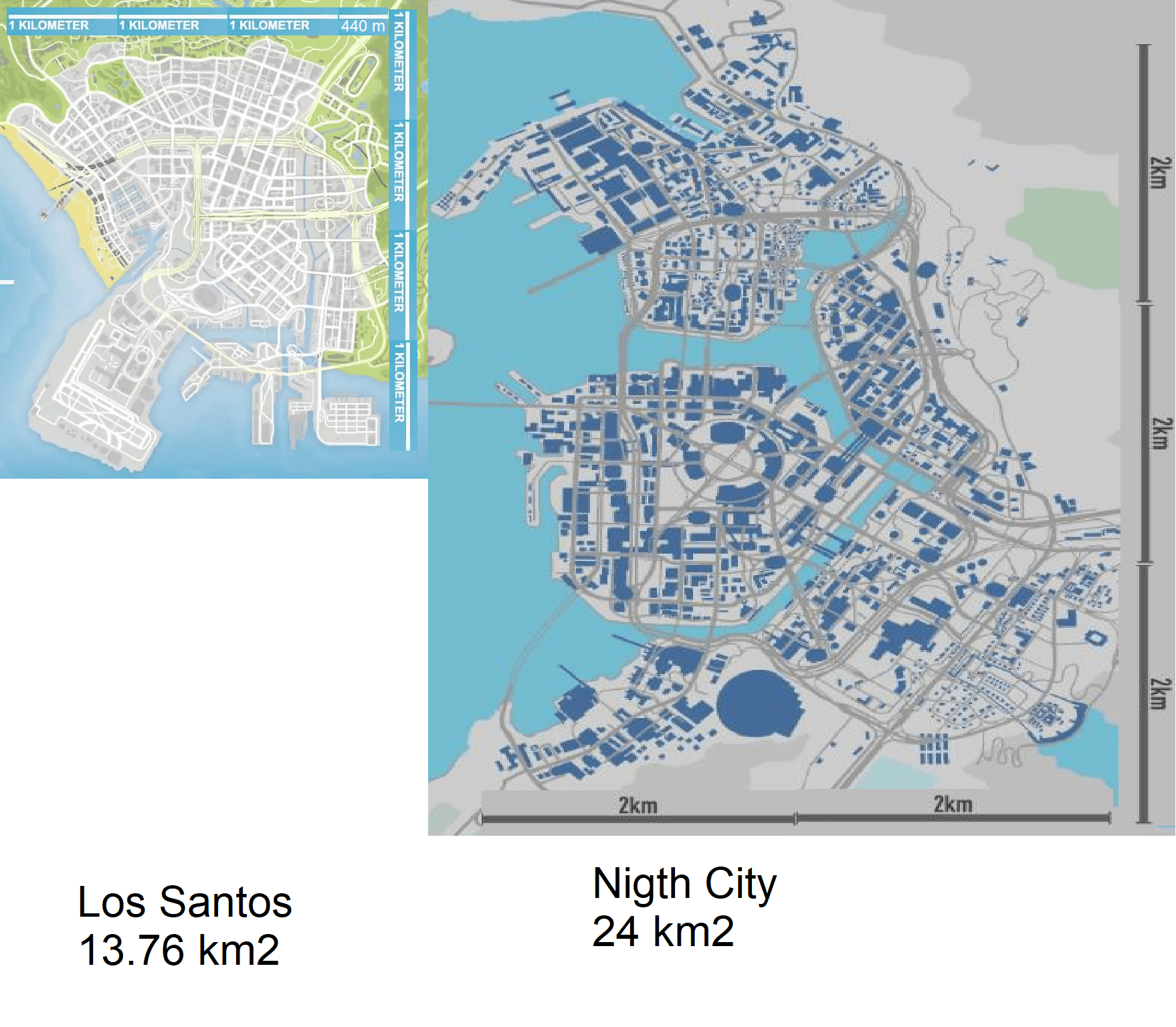 Here S How Cyberpunk 2077 Map Size Compares To That Of Gta V