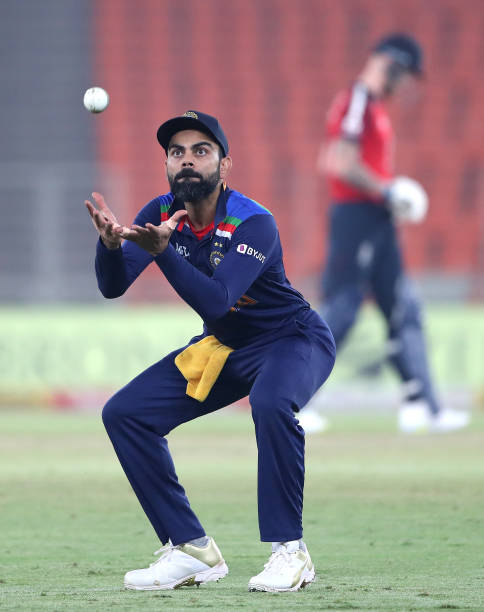 AHMEDABAD-INDIA-MARCH-20-Virat-Kohli-catches-the-ball-during-the-5th-T20-International-between-India