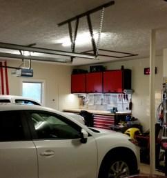 one car side toward garage door  [ 1280 x 720 Pixel ]