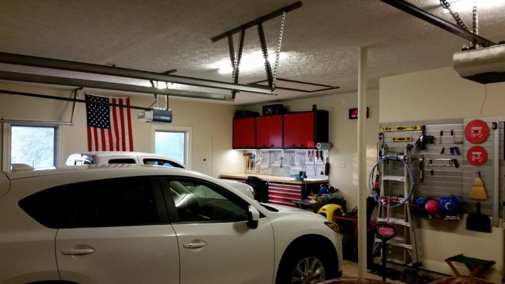 medium resolution of one car side toward garage door