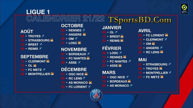 PSG-Fixtures