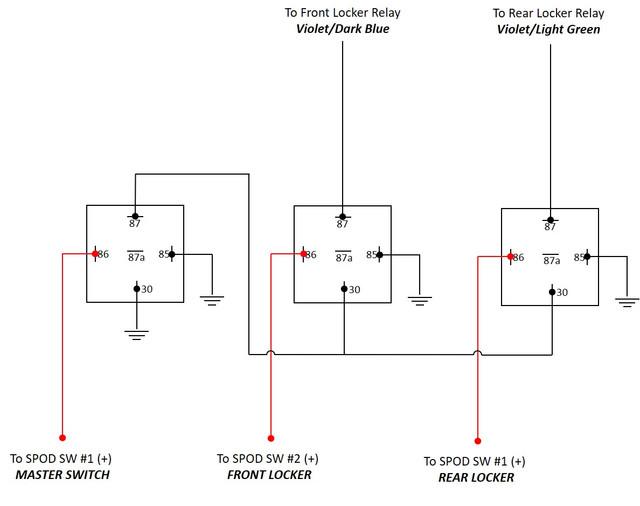 warn m8000 winch wiring diagram for alternator warning light spod all data locker bypass using jkowners com jeep wrangler jk forum viair i ll