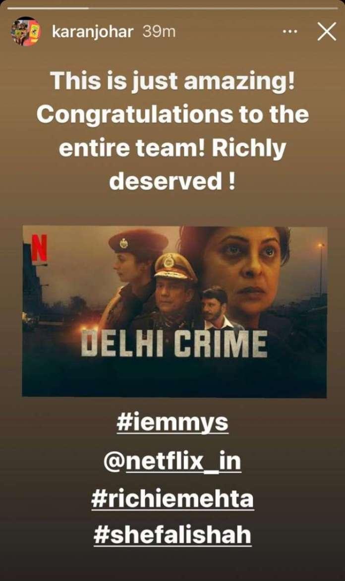 Priyanka Chopra Jonas, Anushka Sharma, Deepika Padukone among others congratulate 'Delhi Crime' team for Emmy win