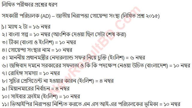 NSI Written Exam Type