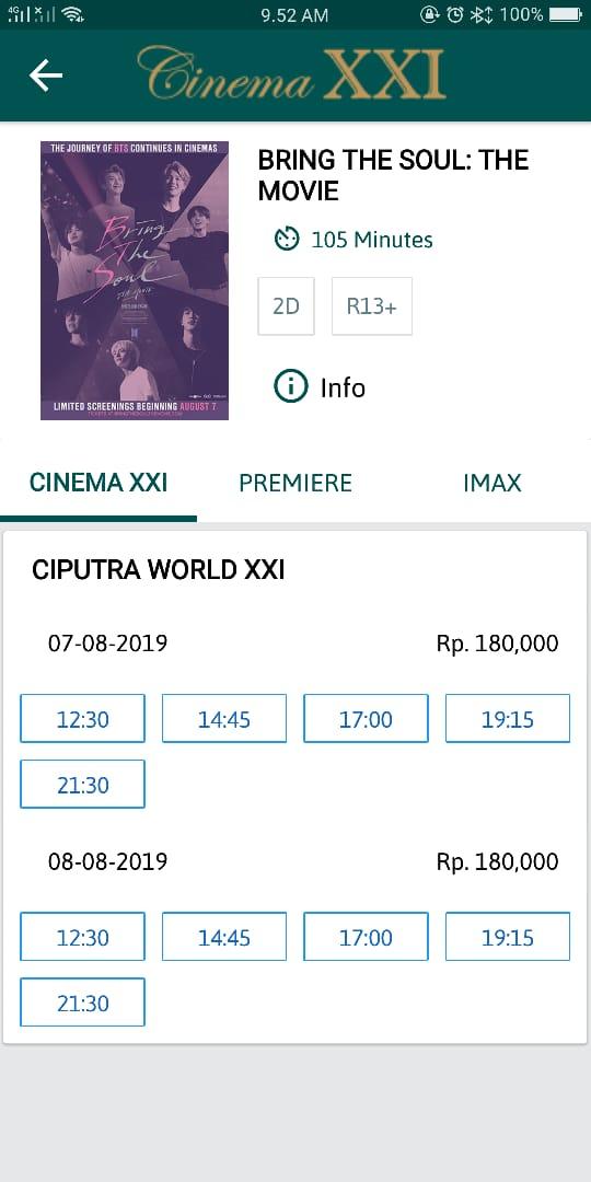 Jadwal Film Dan Harga Tiket Bioskop Royal Xxi Surabaya