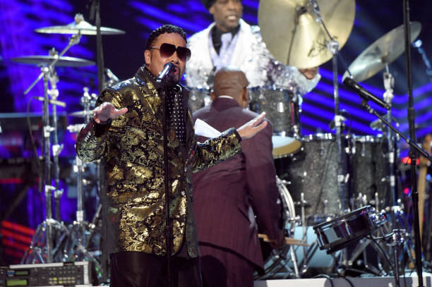 -L-R-Morris-Day-and-Jerome-Benton-of-The-Time-performs-onstage-duri