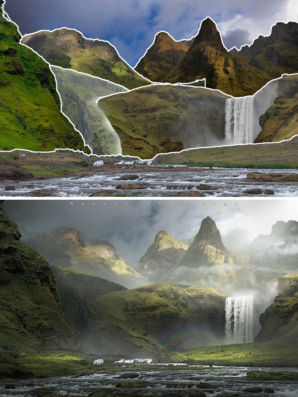 before and after 6 digital landscapes photoshop video training