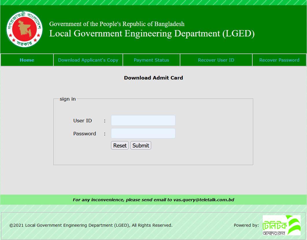 LGED-Exam-Date