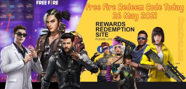 Free Fire Redeem Code 26 May 2021 FF   Free Fire Redeem Code Today Indian Server - FF Redeem ...