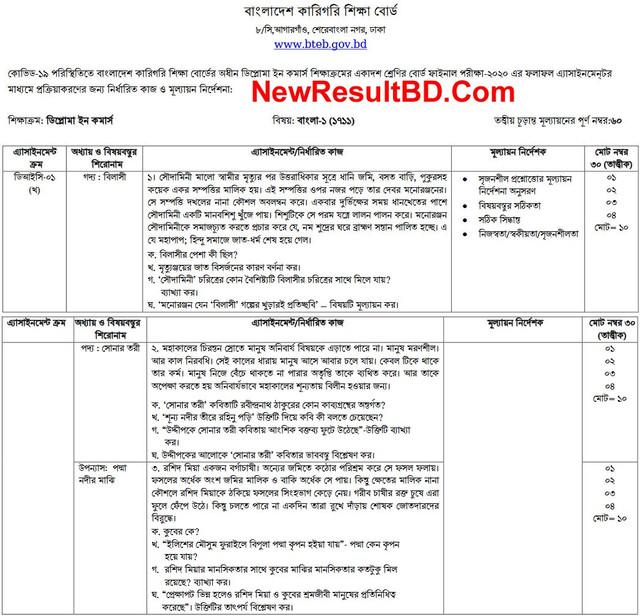 HSC Diploma Bangla Assignment 2