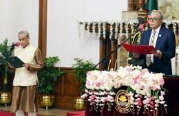 প্রতিমন্ত্রী হিসেবে শপথ নিলেন ড. শামসুল আলম