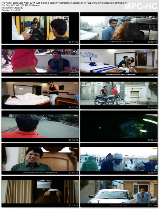 18+ SleepLess Night 2019 Web Series Season 01 Complete All Episode (1-7) 720p 650MB Download