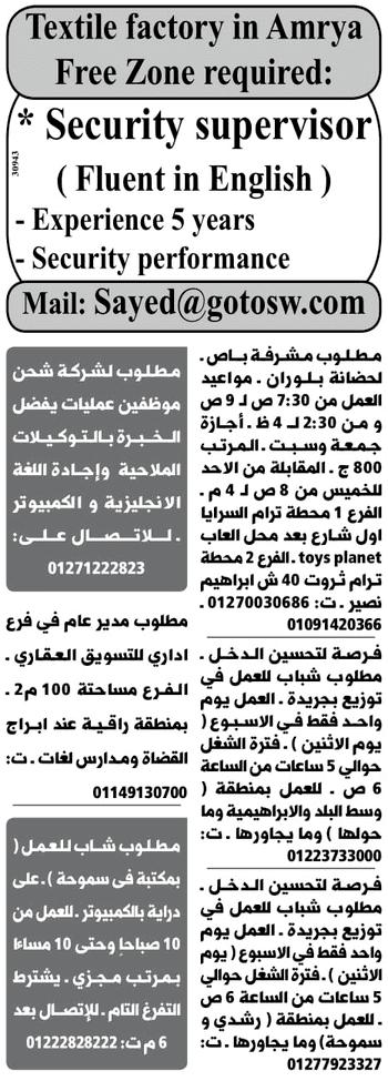 وظائف وسيط الاسكندرية