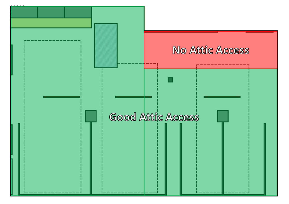 medium resolution of to install lights in the area shaded in red i ll be having to drill through a large floor joist to fish the wires i m not opposed to it but it will make