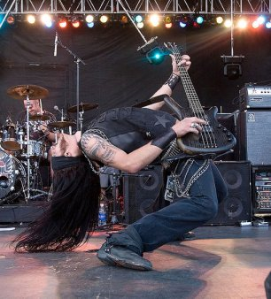Pop Evil performs during the 2009 Rock On The Range festival at Columbus Crew Stadium on May 17, 2009