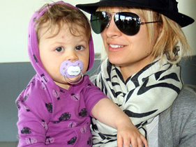 Nicole Richie with baby