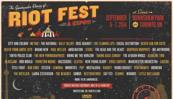 Riot Fest Toronto Admat