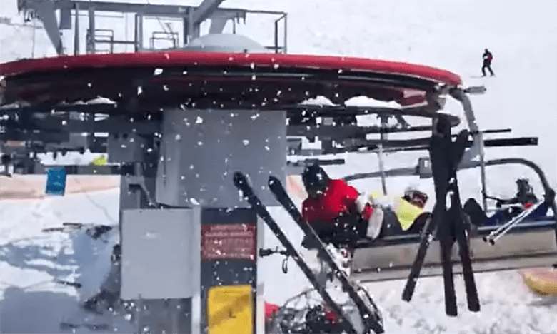 chair lift accident steelcase pollock horrific ski video is the scariest thing you ll see a chairlift at resort in georgia country not state malfunctioned moving backwards nearly twice its normal speed and throwing riders